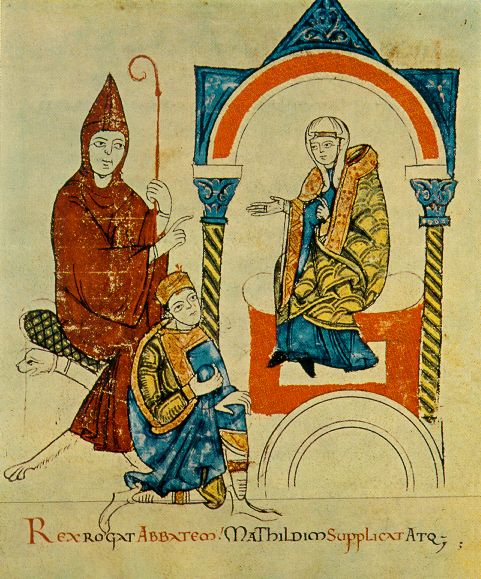 matilda-at-canossa-during-the-absolutio-of-henry-by-gregory-illustration-in-vitae-matildis